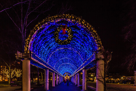 Trellis Lights at Christopher Columbus Park - WeekendPick